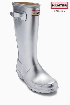 Hunter Original Silver Wellington Boot