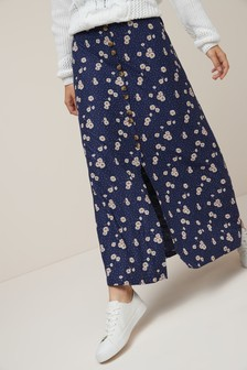 Maxi Button Skirt