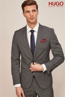 HUGO Grey Puppytooth Suit Jacket