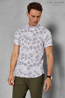 Ted Baker Teval Dotted Floral Print Shirt