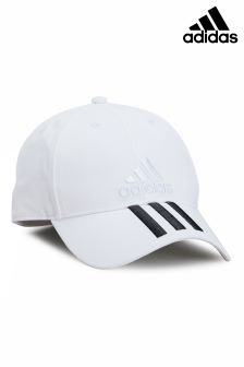 adidas Adult White 3 Stripe Cap