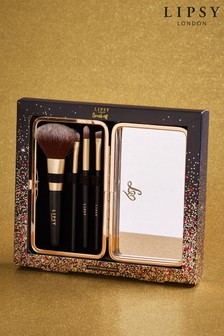 Set of 4 Lipsy Make Up Brushes And Case