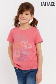 Różowa koszulka z grafiką FatFace VW