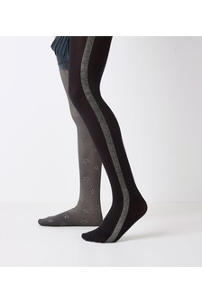 Side Tape Sparkle Tights (Older)