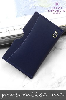 Personalised Luxury Leather Card Holder by Treat Republic