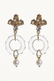 Stone Crystal Effect Earrings