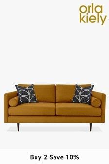 Orla Kiely Mimosa Medium Sofa with Walnut Feet