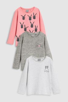 Rabbit T-Shirts Three Pack (3mths-6yrs)
