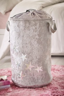 Velvet Sequin Stars Storage Bag