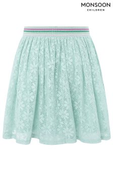 Monsoon Blue Lydia Lace Skirt