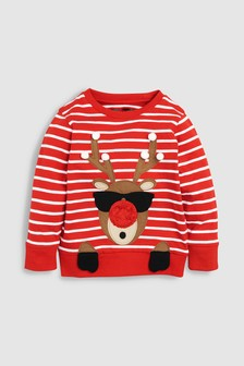 Long Sleeve Reindeer Top (3mths-6yrs)