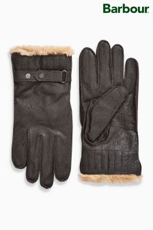 Barbour® Brown Leather Gloves