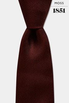 Moss 1851 Burgundy Melange Silk Tie