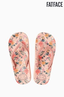 FatFace Pink Bay Tropical Flip Flop