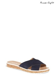 Phase Eight Blue Vida Cross Front Sandal