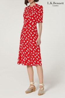 שמלה מדגם Montana בצבע אדום של L.K. Bennett