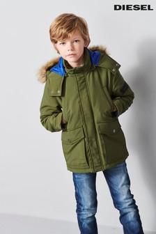Diesel® Kids Khaki Jerax Faux Fur Parka