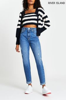 River Island Denim Medium Carrie Mom Coulee Jeans