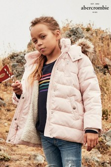 Abercrombie & Fitch Girls Pink Padded Jacket