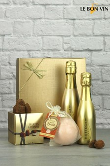 Prosecco with Bath Bomb & Truffles Gift Set by Le Bon Vin
