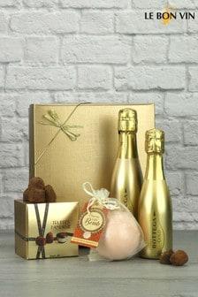 Prosecco with Bath Bomb & Truffles Gift Set by Le Bon Vin