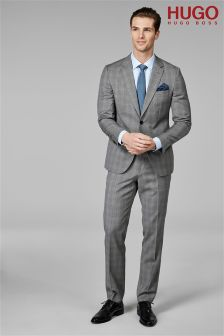 HUGO Grey Prince Of Wales Suit Trouser