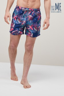 Bright Palm Leaf Swim Shorts