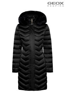 Geox Chloo Black Down Jacket