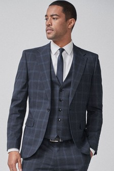 Wide Lapel Check Suit