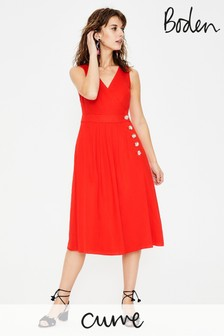 Boden Red Arwen Midi Dress