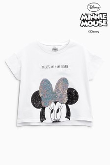 Minnie Mouse™ T-Shirt mit Paillettendetails (3-16yrs)