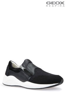 Geox Omaya Black Slip-On Trainer