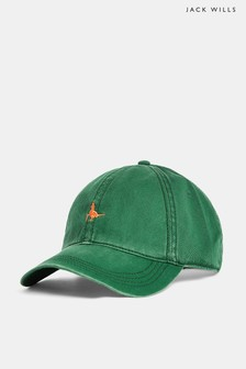 Jack Wills Green Enfield Striped Pheasant Cap