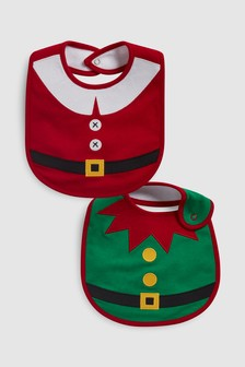 Christmas Dress Up Regular Bibs Two Pack