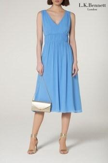 שמלה כחולה דגם Grecaשל L.K.Bennett