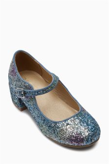 Glitter Heel Mary Jane Shoes (Older)