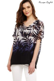 Phase Eight Navy Multi Lizzy Fern Print Blouse