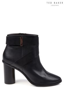Ted Baker Black Leather Matyna Strap Ankle Boot