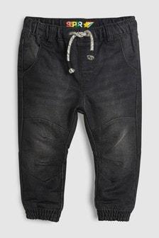 Трикотажные джинсы без застежек на подкладке (3 мес.-6 лет)