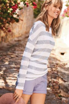 Knit Look Stripe Top