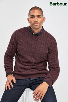Barbour® Red Essential Cable Crew