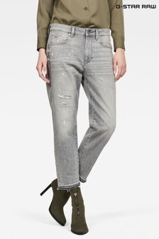 G-Star Grey 3301 Mid Boyfriend Fit Jean