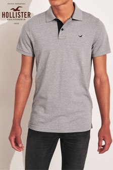 Hollister Grey Basic Poloshirt