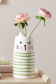 Cat Ceramic Vase