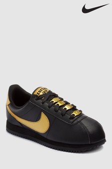 Nike Black/Gold Cortez Youth Trainers