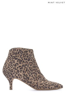 Mint Velvet Animal Tommie Leopard Low Kitten Heel