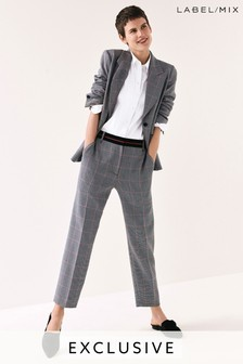 Next/Mix Tailored Check Capri Trouser