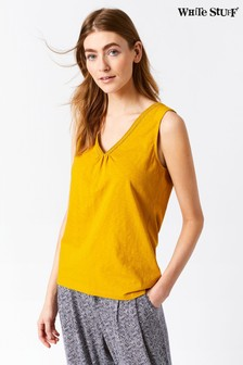 White Stuff Holland Fairtrade Yellow Jersey Vest