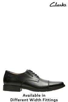 next mens black leather shoes