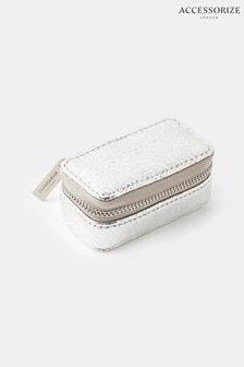 Accessorize Silver Mini Jewellery Box